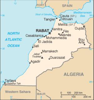 Karte von Marokko von Wikitravel