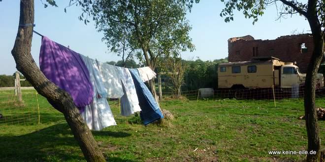 Wäsche waschen im Wohnmobil