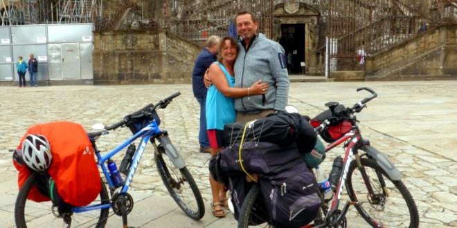 Mit dem Fahrrad unterwegs auf dem Jakobsweg