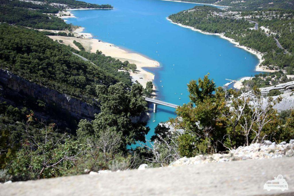 Mündung vom verdon in den Lac de Sainte-Croix