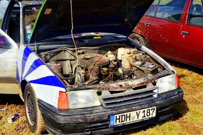 Der Motor des Opel Kadetts