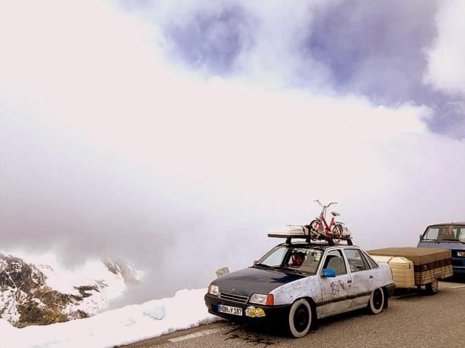 Der Opel Kadett am Großglockner