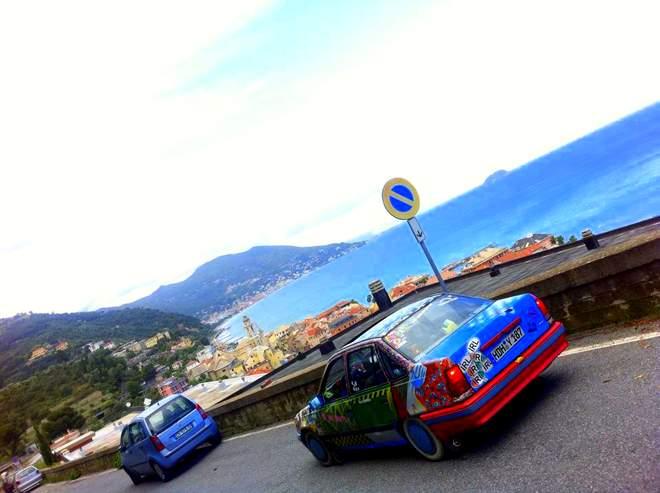 Der Opel Kadett in Ligurien