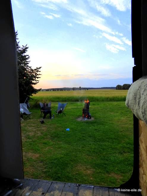Wohnmobil Selbstausbau Zwischendurch fahren wir mal aus der Scheune raus, um mal wieder einen schönen Ausblick zu haben