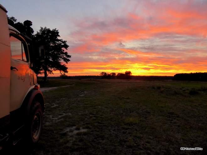 den Sonnenuntergang in der Prignitz genossen