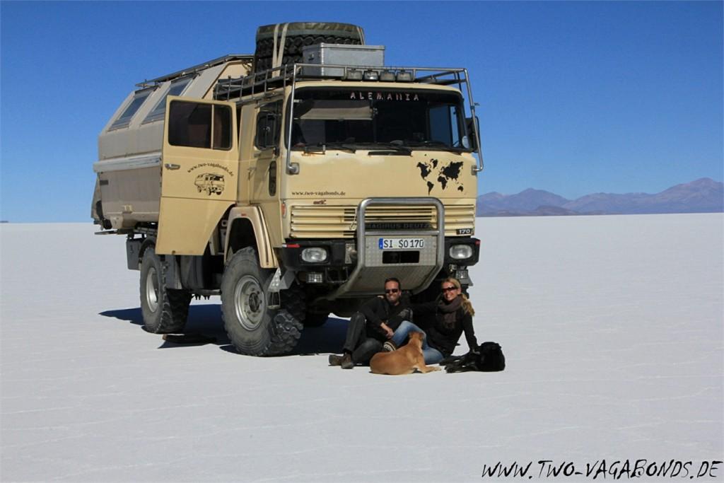 Magirus Deutz FM 170 D 11 am Salar de Uyuni -Bolivien