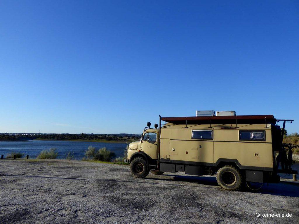 Überwintern Portugal Wohnmobil Barragem do Lucefecit