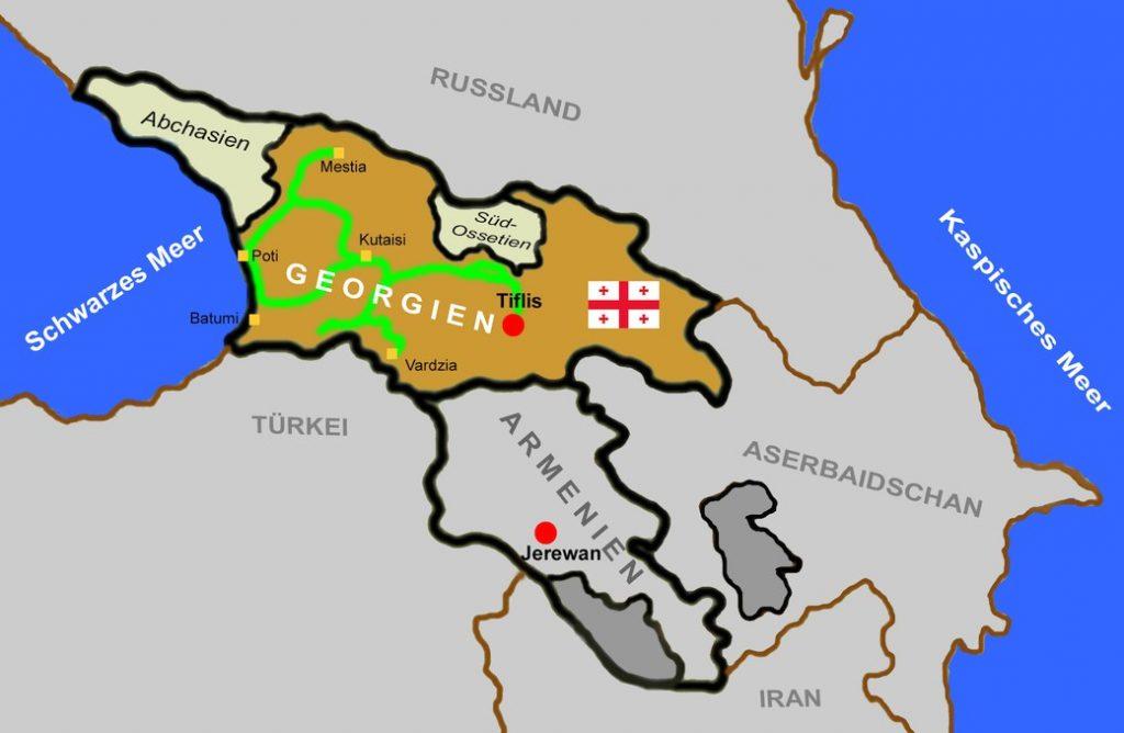 Radreise Georgien Karte