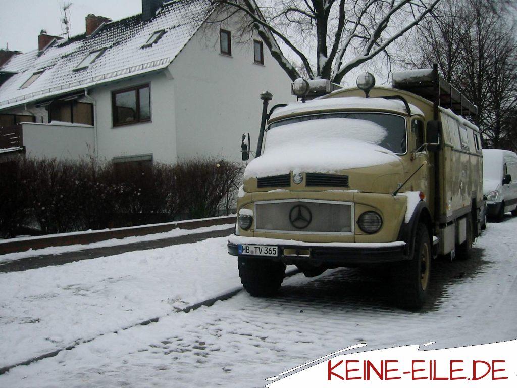 Der erste Winter im Mercedes Kurzhauber