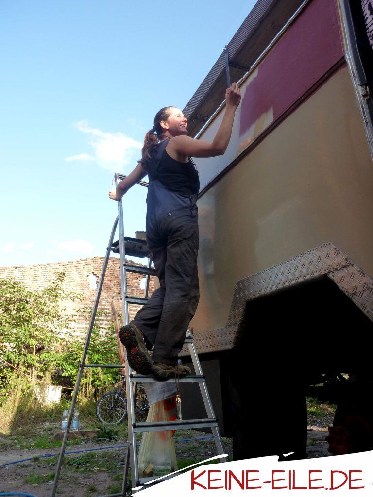 Karosseriearbeiten im Sommer 2014