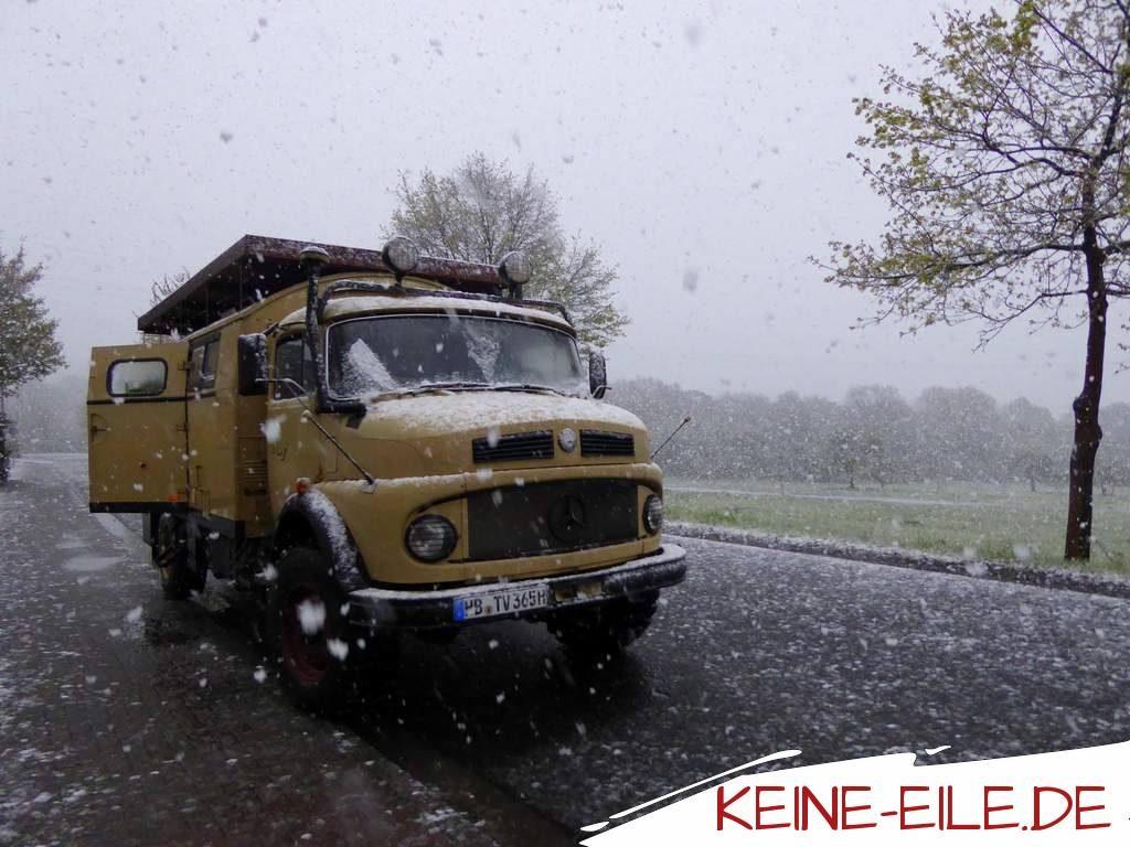 Schnee Überraschung in Deutschland