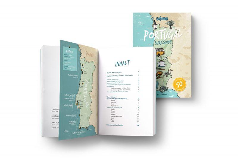 Surfguide Portugal_Cover _ Inhaltsverzeichnis