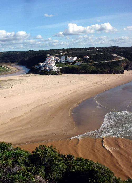 Odeceixe Blick auf Praia de Seixe klein