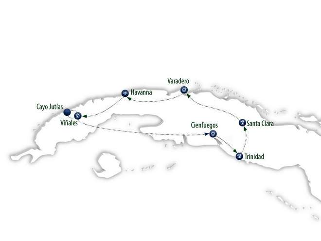 Radreise Kuba Karte