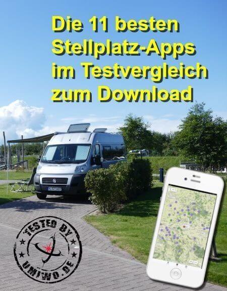 Die 11 besten Android Apps 2017 zur Wohnmobil-Stellplatz-Suche in Europa