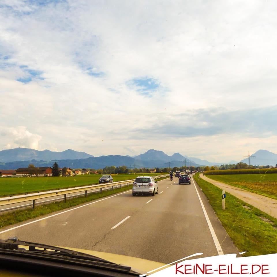 Anreise Griechenland: Alpen in Sicht