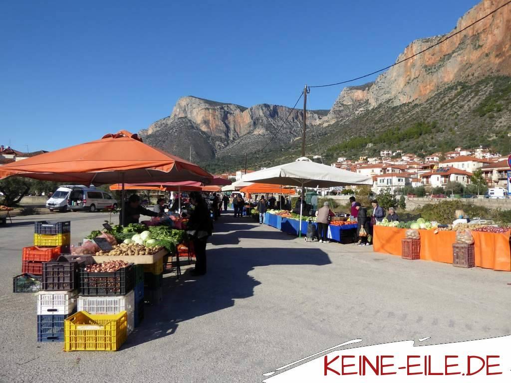 Reisebericht Griechenland: Markt in Leonidio