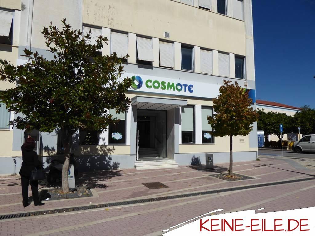 Reisebericht Griechenland: Der Laden von Cosmote in Amaliada