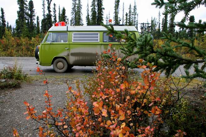 VW Bulli T2 in Kanada