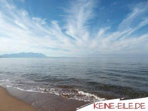 Reisebericht Griechenland: Am Strand von Loggaki
