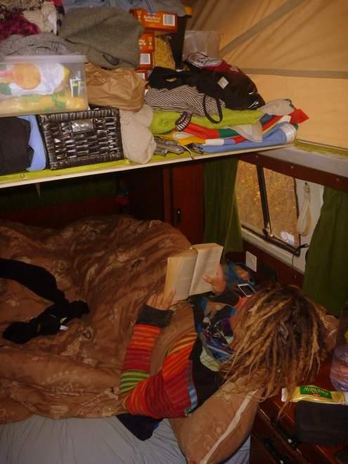 Das Schlafzimmer im VW Bulli T2