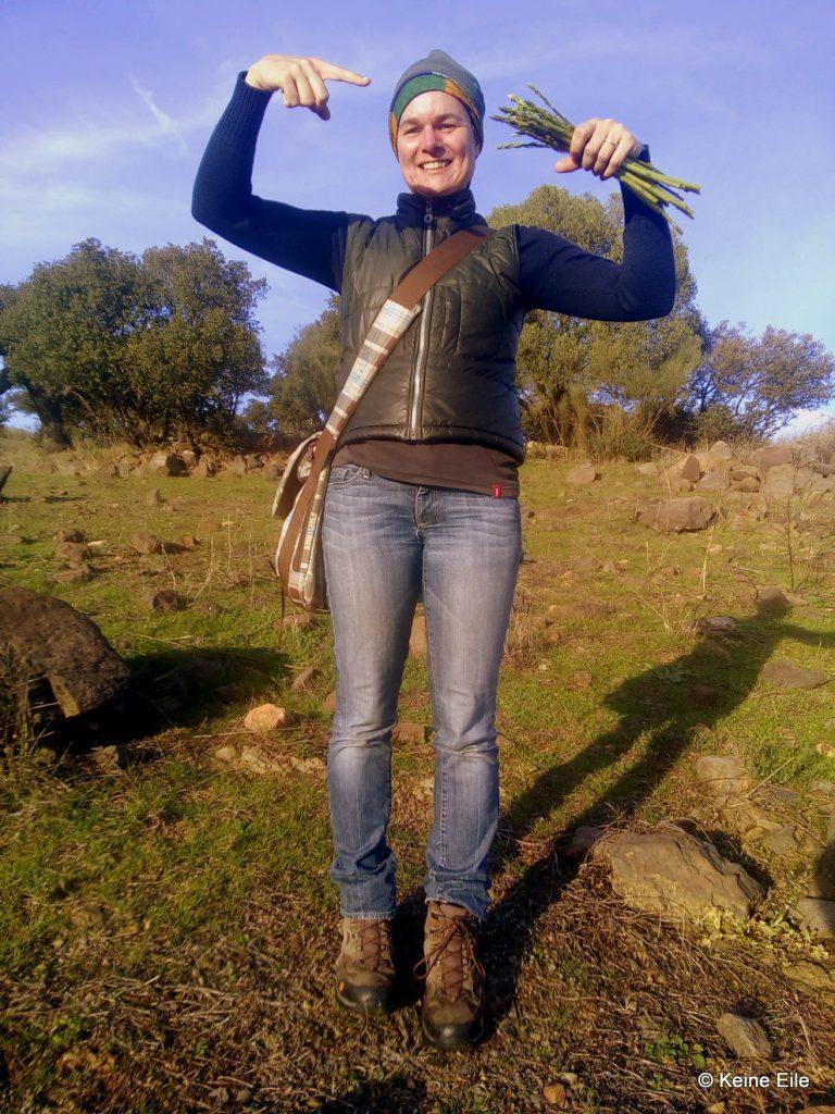Überwintern Portugal Spargel suchen und auch finden