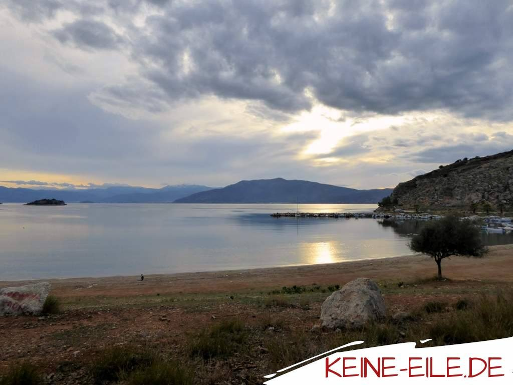 am Karathona Beach in Nafplio