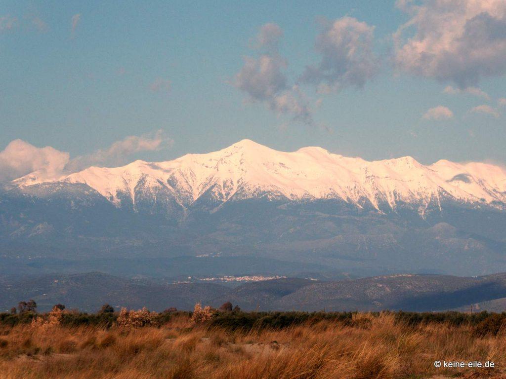 Schnee auf dem Profitis Ilias