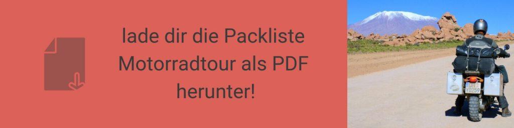 Lade dir die Packliste Motorradtour als PDF herunter!
