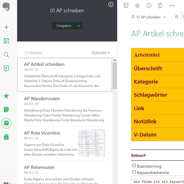papierloses-Büro-Evernote