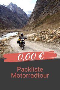 Packliste Motorradtour kaufen