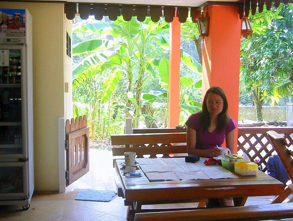 Der Frühstücksraum im Baan Lotus