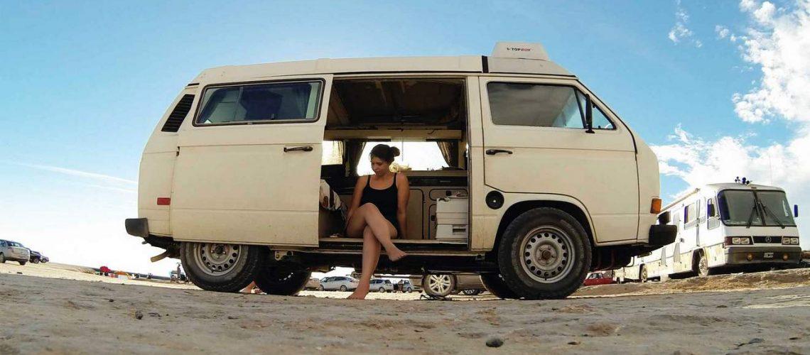 Bulli Office: Carina reist und arbeitet in Südamerika
