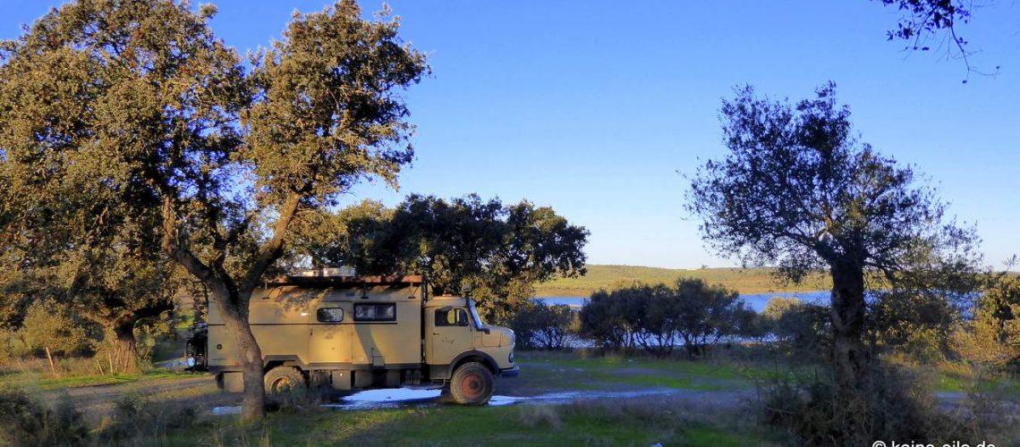 Überwintern Portugal Wohnmobil Barragem do Lucigecit