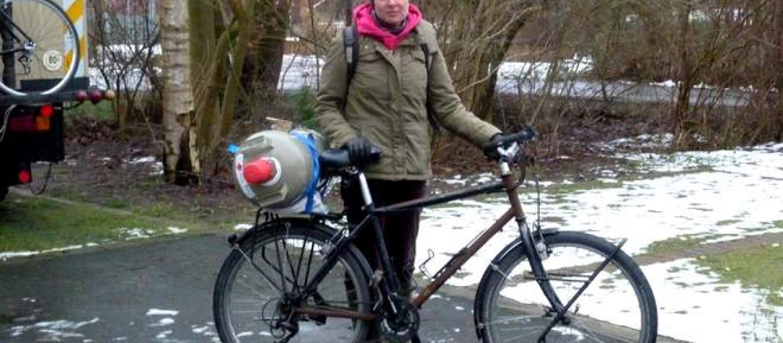 Mit dem Rad zum Gas holen