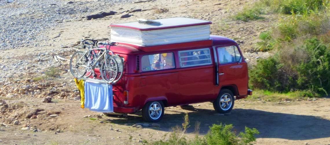 Wohnmobil vermieten: Bulli am Strand
